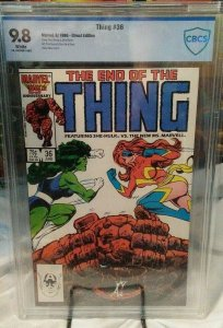 Thing #36 - CBCS 9.8 - White Pages - Last Issue! Ms. Marvel vs She-Hulk!