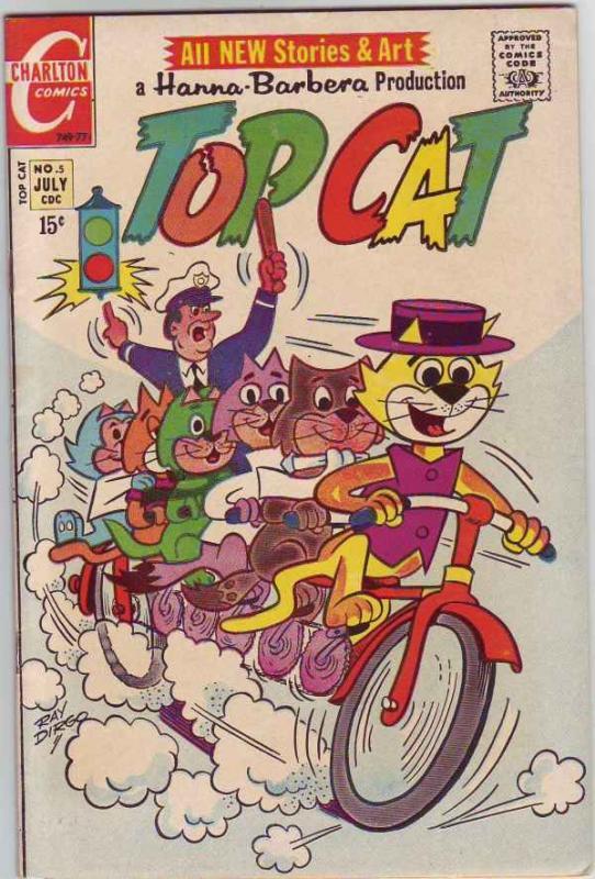 Top Cat #5 (Jul-71) NM- High-Grade Top Cat and Crew