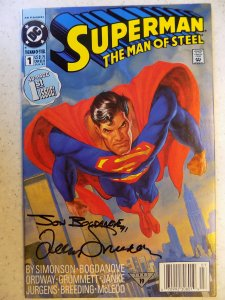 Superman: The Man of Steel #1 (1991) SIGNED BY SIMONSON AMD BOGDANOVE