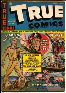 True #17 1942-WWII era issue-Gen Stillwell-Leaping Leathernecks-VG/FN