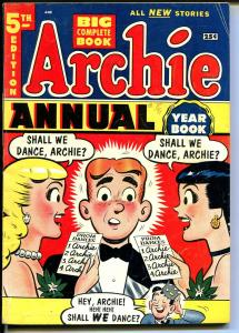 Archie Annual #5 1953-Betty-Veronica-Giant edition-VG+