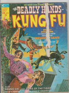 DEADLY HANDS OF KUNG FU #8 1975 MARVEL SHANG-CHI & SONS OF THE TIGER
