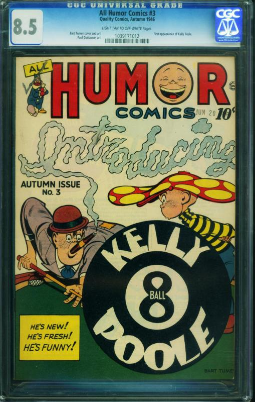 All Humor #3 CGC 8.5 1946-1st KELLY POOLE Great cover! 1039171012