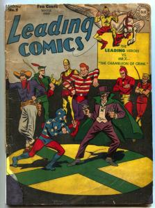 Leading Comics #9 1943- Seven Soldiers of Victory-  DC restored