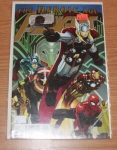 AVENGERS # 5  2010  MARVEL THE HEROIC AGE  THOR WOLVERINE IRONMAN SPIDERMAN