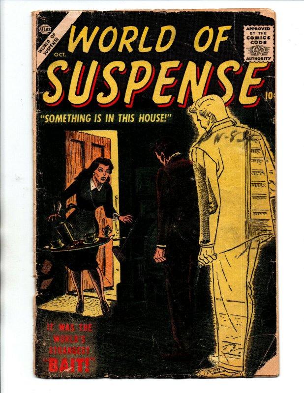 World Of Suspense #4 - Horror - Burgos Cover - Atlas - 1956 - GD