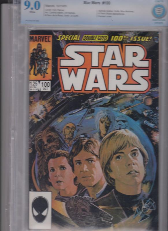 STAR WARS #100 CBCS  9.0   WHITE PAGES