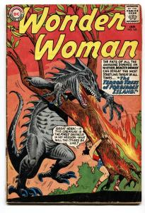 WONDER WOMAN #143 comic book 1964-DC COMICS-MONSTER COVER vg-
