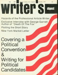WRITER DIGEST NOVEMBER 1972 PLOTTING SHORT STORY WHITTINGTON FN