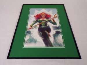 Mera Framed 16x20 Poster Display DC Comics Artgerm Aquaman