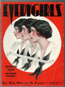 Everygirls 3/1931-Campfire Girls magazine-historic-pix-art-VG