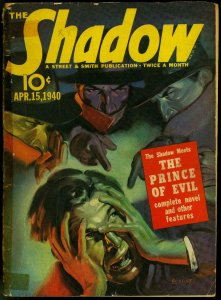 The Shadow Pulp April 15 1940- Prince of Evil G/VG