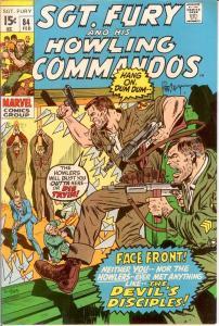 SERGEANT FURY 84 VF-NM Feb. 1971 COMICS BOOK