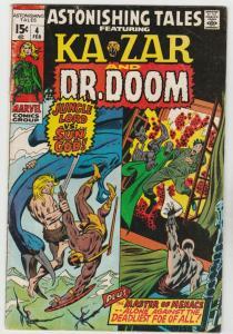 Astonishing Tales #4 (Feb-71) FN+ Mid-High-Grade Ka-Zar, Doctor Doom