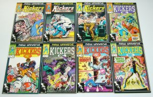 Kickers Inc #1-12 VF/NM complete series NEW UNIVERSE football heroes TOM DEFALCO