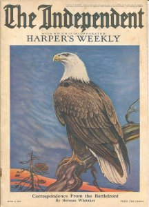 The Independent 6/1/1918-WWI issue 100+ years old-incorporates Harper's Weekl...