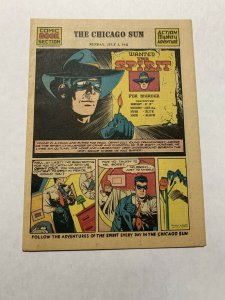 The Spirit Comic Book Section Sunday July 5 1942 Nm Near Mint