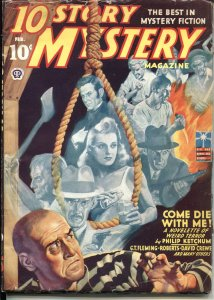 TEN STORY MYSTERY- -FEB 1943--WEIRD TERROR PULP--VIOLENT COVER--NEW COLLECTION