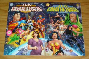 JLA: Created Equal #1-2 VF/NM complete series - superman inseminates everyone