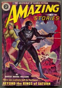 Amazing Stories Pulp #12 1951- British ed- Beyond the Rings of Saturn