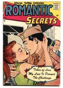 Romantic Secrets #12 1957-Charlton-GI romance cover-nice poses-10¢-VG
