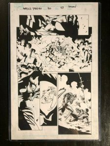 Amazing Spider-Man #800 Original Art by Stuart Immonen - Red Goblin v Spider-Man