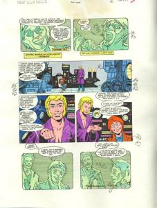 NEW TEEN TITANS #47-ORIGINAL D.C. PRODUCTION ART-PG 5 VG