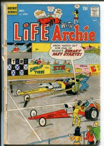 Life With Archie #104 1970- Betty and Veronica -drag race cover-P