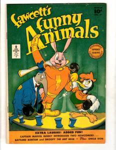Fawcett's Funny Animals # 47 VG/FN Comic Book Captain Marvel Bunny Ant Bear JL16