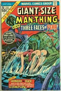 GIANT-SIZE MAN-THING#5  FN/VF 1975 MARVEL BRONZE AGE COMICS