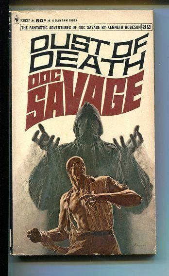 DOC SAVAGE-DUST OF DEATH-#32-ROBESON-VG/FN-JAMES BAMA COVER-1ST EDITION VG/FN