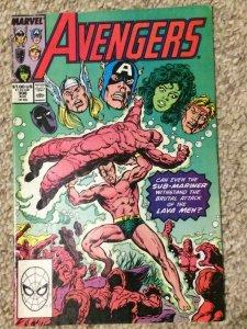 Avengers #306 Sub-Mariner Lava Men Thor Captain America Marvel VF+ 1989