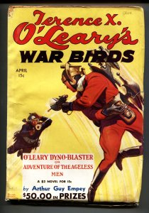 Terence X. O'Leary's War Birds April 1935-Rare Sci-Fi Aviation pulp magazine