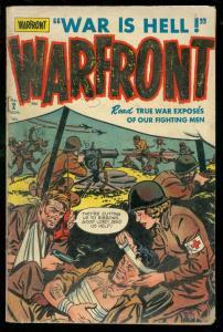 WARFRONT #2 1951-HARVEY COMICS-BRUTAL COMBAT COVER VG-