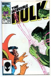 HULK #299, VF/NM, Incredible, Bruce Banner, Dr Strange, 1968 1984, Marvel