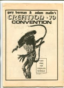 1979 CREATION CONVENTION PROGRAM BOOK-HISTORIC-JOHN ROMITA-fn
