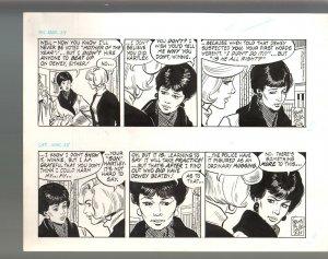 Winnie Winkle Original Double Daily Comic Strip Art 3/24 & 3/25 1989 Frank Bolle