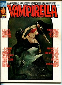 Vampirella #50 1976-Warren-Vampi cover-terror & horror stories-Spirit-Eisner-FN+