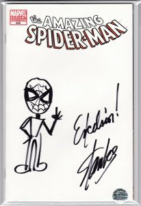 The Amazing Spider-Man #648  Stan Lee Signed Sketch & Remark Excelsior! RARE!