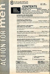 Action For Men Magazine May 1969-AGGRESSIVE WOMEN-SKY AMBUSH-UFO VG