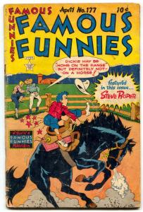 Famous Funnies #177 1949- Dickie Dare cover-Buck Rogers- Steve Roper G