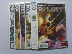 Fury (Marvel), Set:#1-6, 8.0/VF (2001)