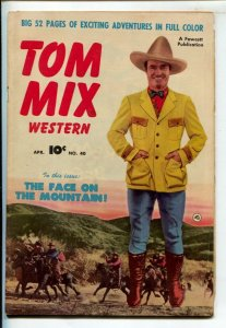 Tom Mix Western #40 1951-Fawcett-Photo cover -Carl Pfeufer story art-VG
