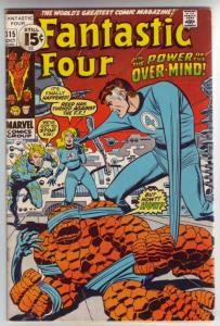 Fantastic Four #115 (Oct-71) FN+ Mid-High-Grade Fantastic Four, Mr. Fantastic...
