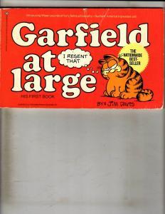 Lot Of 4 Garfield Ballantine Graphic Novels # 1 2 3 4 Jim David 1978 Feature FM6