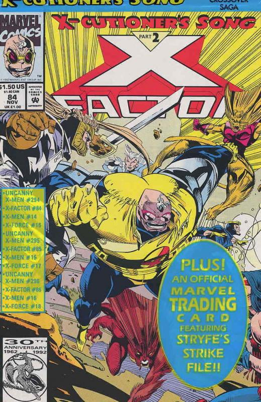 X-Factor #84CS VF/NM; Marvel | save on shipping - details inside