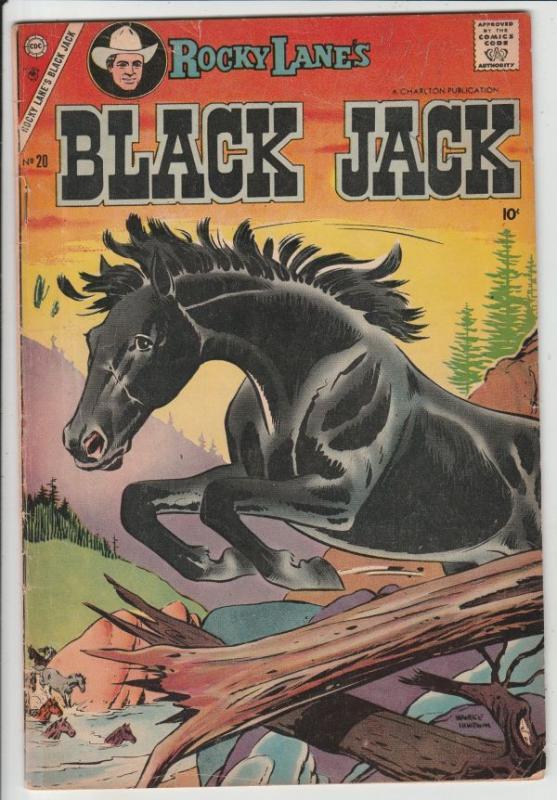 Black Jack #20 (Nov-57) FN/VF Mid-High-Grade Black Jack, Rocky Lane