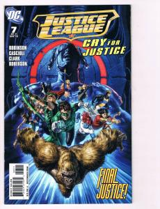 Justice League Cry For Justice # 7 DC Comic Books Awesome Issue WOW!!!!!!!!! S24
