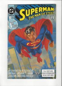 Superman: Man Of Steel # 1(1991) DC Comics NM