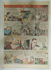 Superman Sunday Page #911 by Wayne Boring from 4/14/1957 Size ~11 x 15 inches